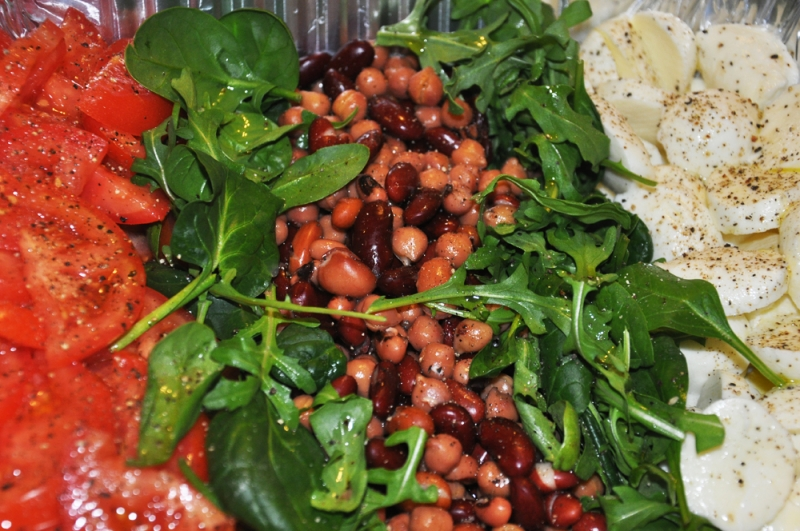 Beans and Caprese Salad